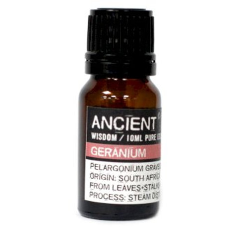 Ancient Wisdom 10ml Geranium Essential Oil Aromatherapy