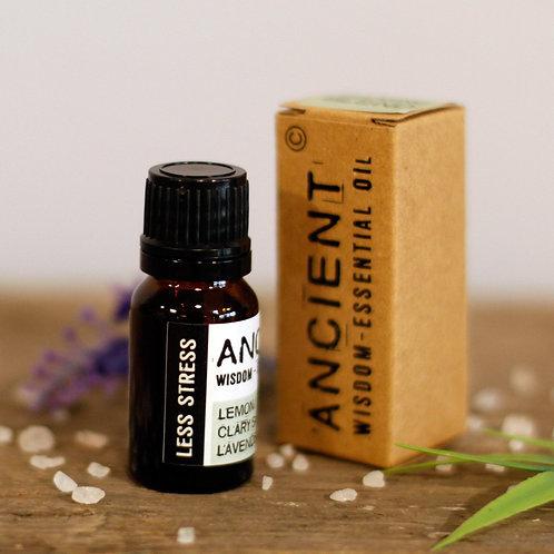 Ancient Wisdom 10ml Less Stress Essential Oil Blend - Boxed