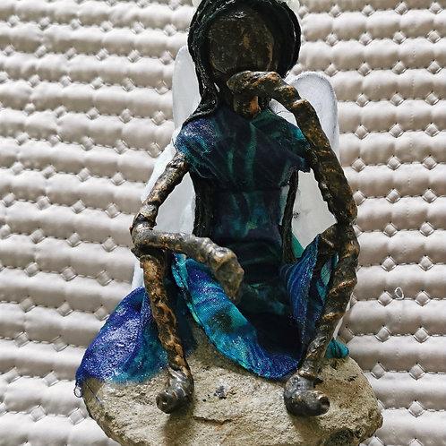 Paverpol Sculpture / Sitting Angel / Handmade