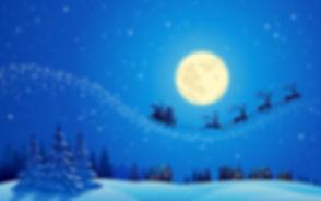 Christmas Eve Santa Claus Raindeer Sleig