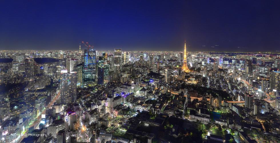 Tokyo Skyline with Tokyo Tower No. 2