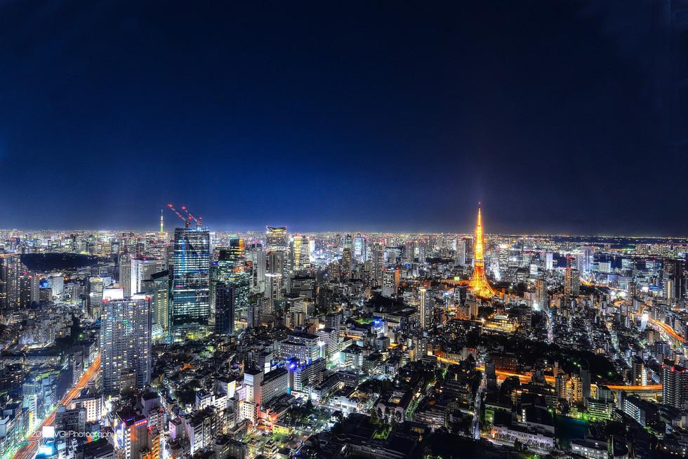 Tokyo Skyline with Tokyo Tower No. 3