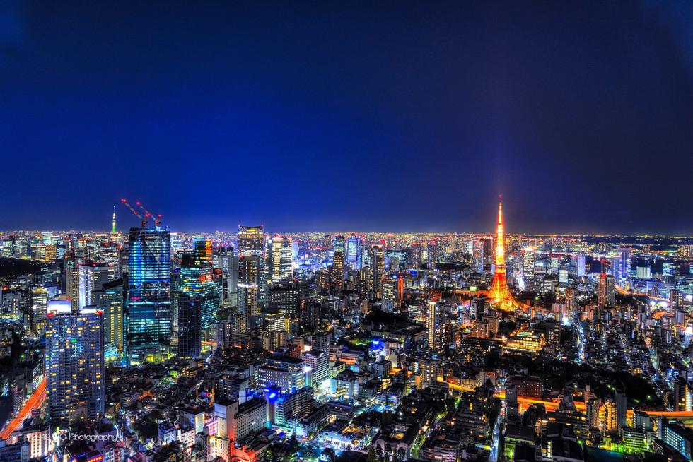Tokyo Skyline with Tokyo Tower No. 1