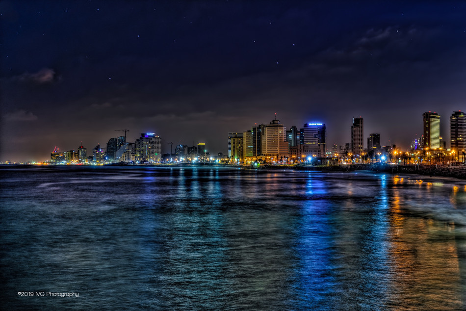 Tel Aviv at Night No. 4