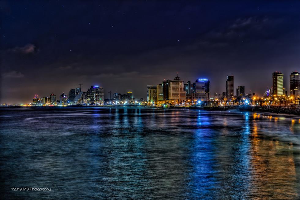 Tel Aviv at Night No. 4
