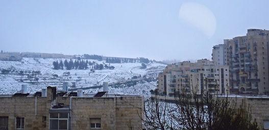 エルサレムの雪