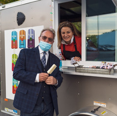 Audience Member at Popsicle Truck_ 2020-