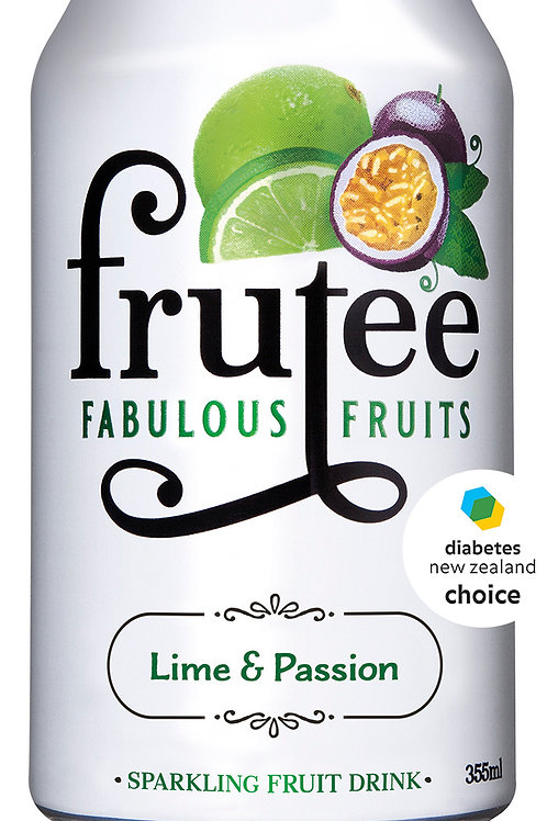 Frutee Sparkling Fruits - 15 x 355ml Cans (6 Flavours)