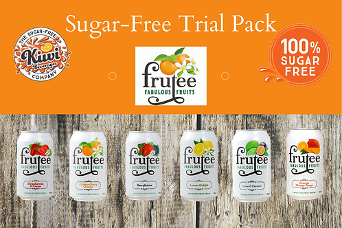 Frutee Sugar Free Trial Pack - 12 Cans