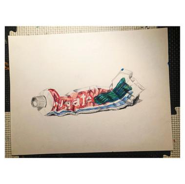Routine in colored Pencil