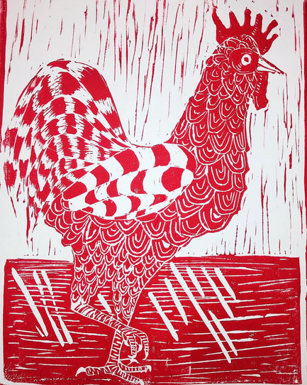 King of the Coop Red Print