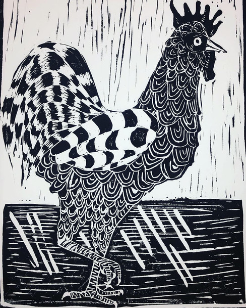 King of the Coop Black Print