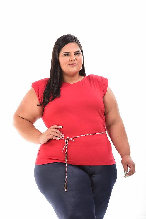 Blusa muscle tee acompanha cinto de cordão