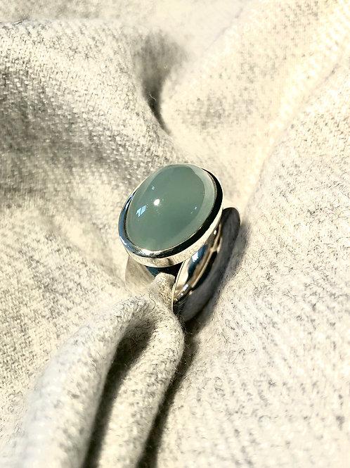 Ring Aquamarine Cabochon