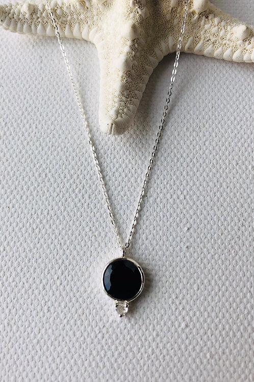 Collier - schwarzer Spinell