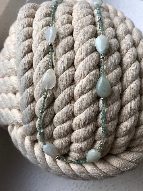 Collier Aquamarinetropfen