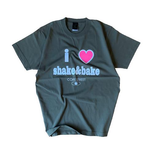 CORE STREET '' I♡SHAKE&BAKE '' T-SHIRTS【ミリタリーグリーン】