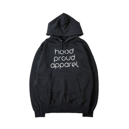HPA''HOOD PROUD APPAREL HOODIE''「Black」[フッド・プラウド・アパレル・フーディー]「ブラック」