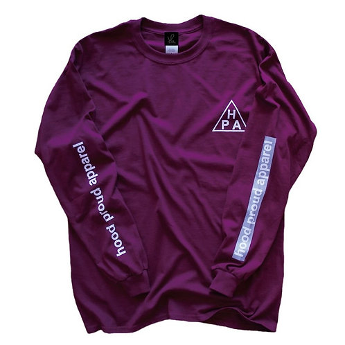 HOOD PROUD APPAREL 【HPA L/S TEE】マルーン
