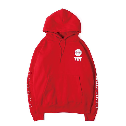 CORE STREET ''STREETBALL HOODIE'' RED [コア・ストリート''ストリートボール・フディー'']「レッド」