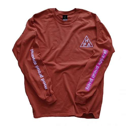 HOOD PROUD APPAREL 【HPA L/S TEE】テキサスオレンジ