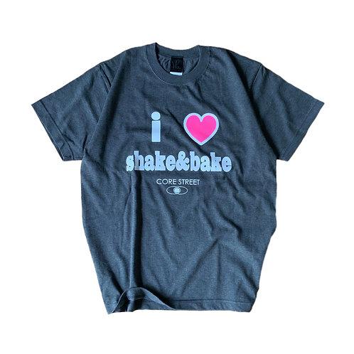 CORE STREET '' I♡SHAKE&BAKE '' T-SHIRTS【チャコール】