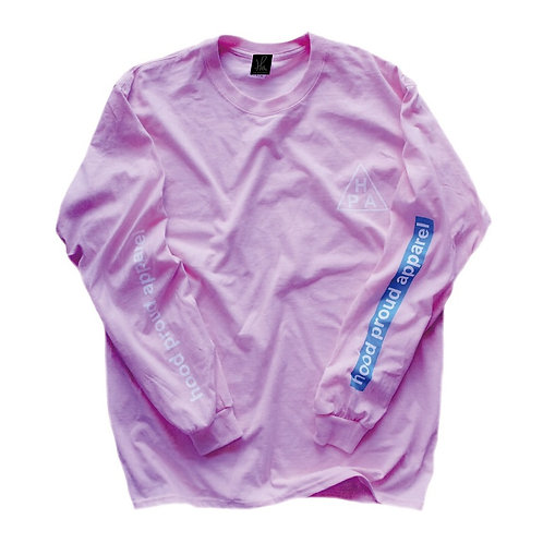 HOOD PROUD APPAREL 【HPA L/S TEE】ライトピンク