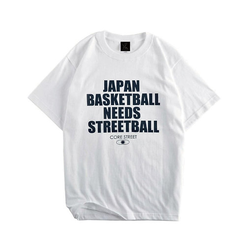 CORE STREET ''JAPAN BASKETBALL NEEDS STREETBALL''「ホワイト」