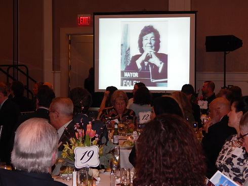 Roast- Eileen Foley on screen.JPG