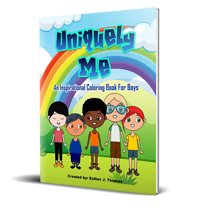 Uniquely Me: An Inspirational Coloring Book for Boys