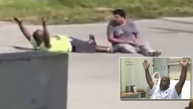 Another day in America: Unarmed Black Man Shot by Cop as He Tries to Comfort his Autistic Client