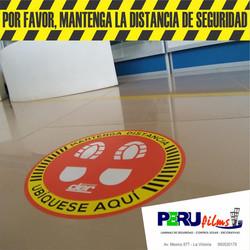 SEÑALIZACION DE DISTANCIAMIENTO LIMA PERU