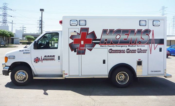Vehicle Graphics for Harris County Emergency Medical Services