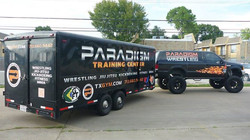 Full Wrap on Truck and Trailer for Paradigm Martial Arts Group