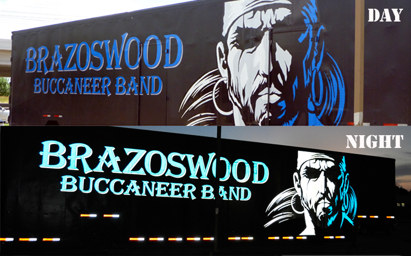 Brazoswoods Buccanear Reflective trailer
