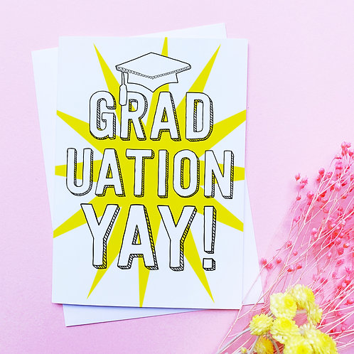 Graduation | Congratulations card | Yay | Graduate