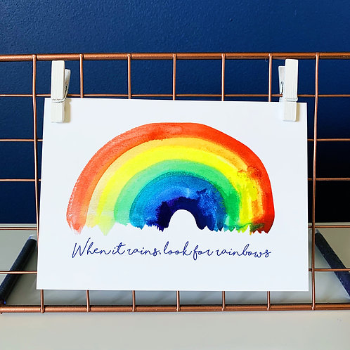 Rainbow Postcard | Watercolour Rainbow | Watercolour Postcard