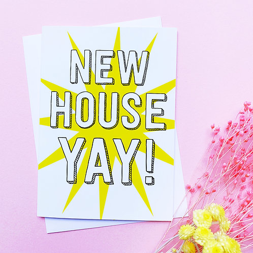New House Card | Congratulations card | new house | New house greetings card