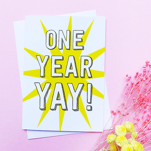 Anniversary Card | One Year card | Ten Years Card | Years Anniversary greetings
