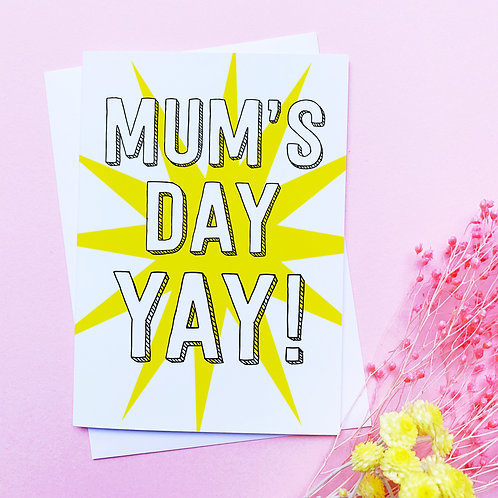 Mother's Day Card | Mum's Day card | Mum | Mother's Day greetings card | Mother