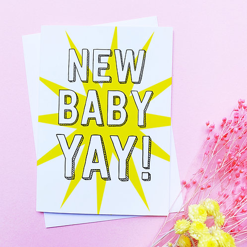 New Baby Card | Congratulations card | new baby | New baby greetings card