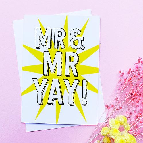 Mr & Mr | Congratulations card | married | partnership | civil partnership