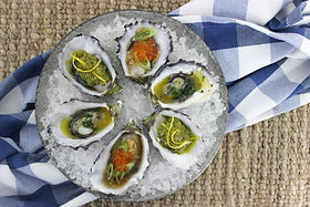 Oysters Pesto Soy Herb Butter