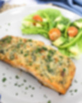 Parmesan Cheese Crusted Salmon Fillet