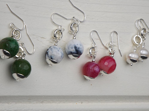 agate orbital earrings