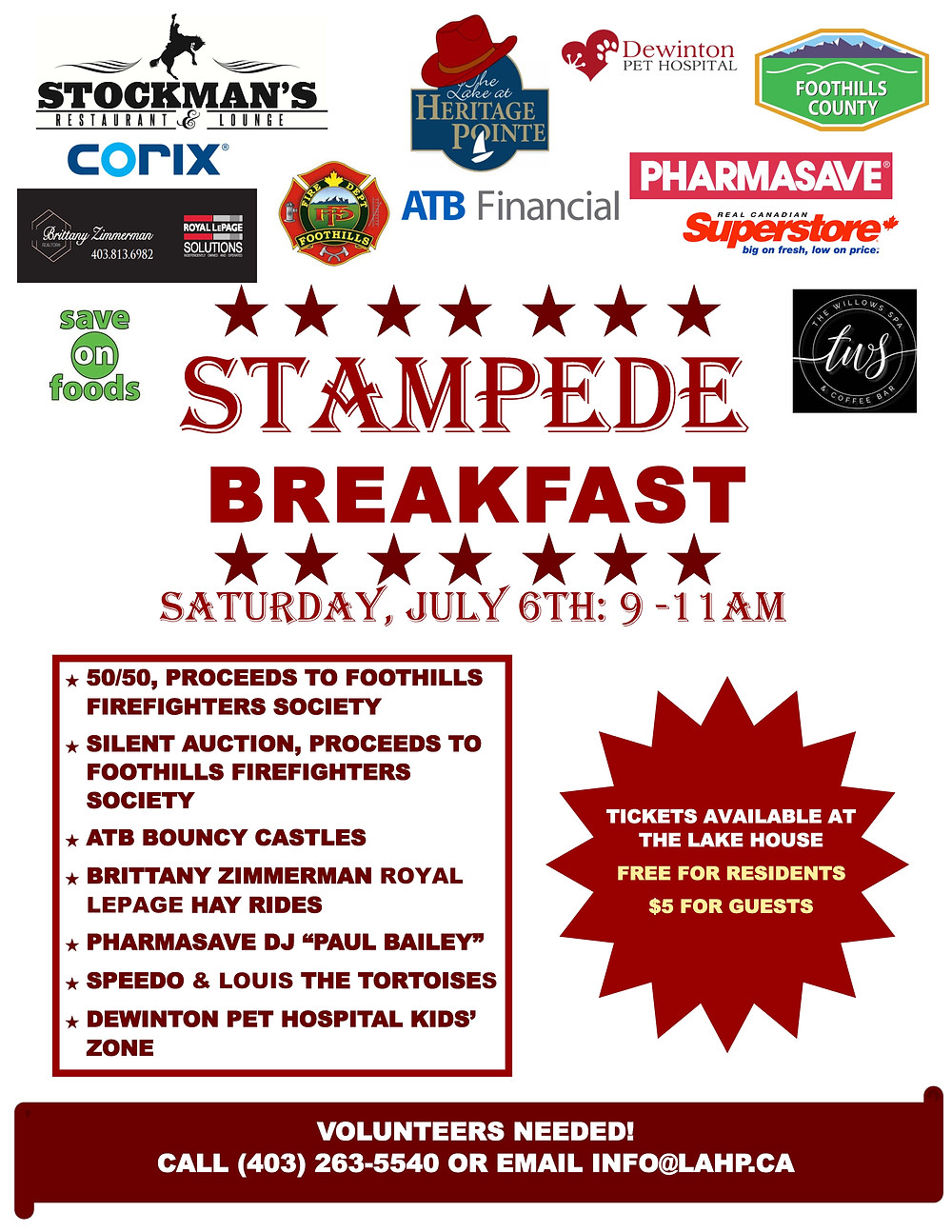 16th Annual Stampede Breakfast!