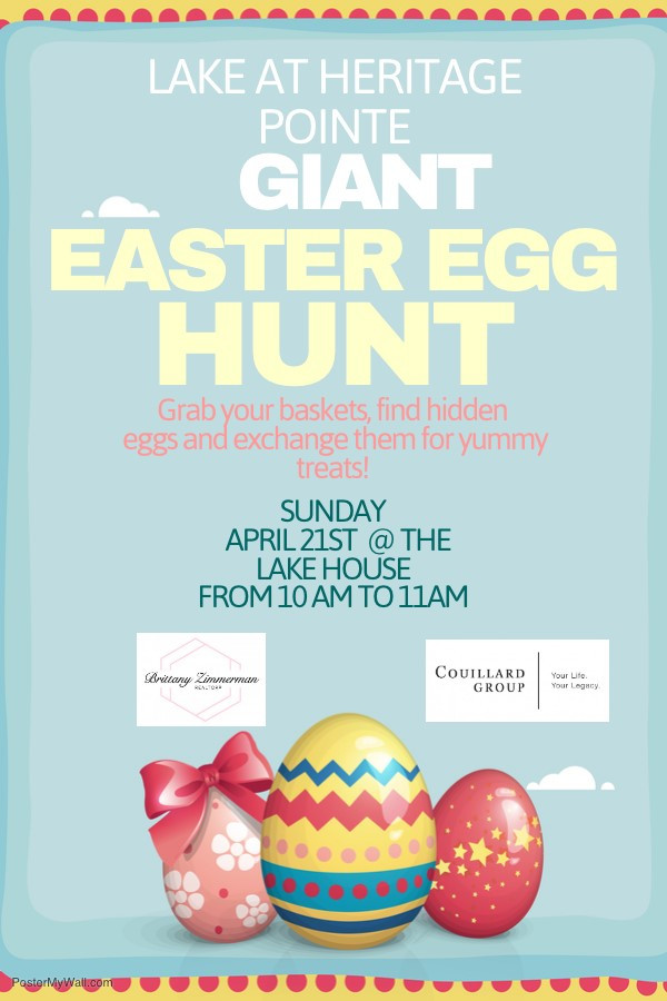 Join us on Sunday for the Annual Giant Easter Egg Hunt!
