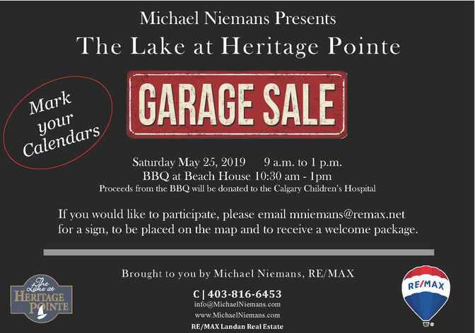 The community garage sale is back . . .