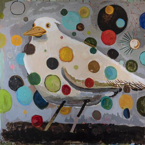 Pták v dešti