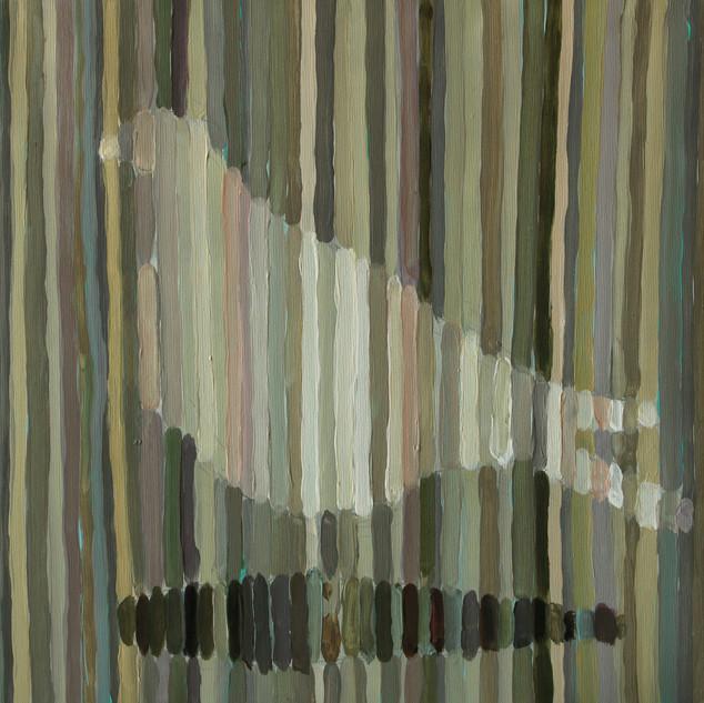 akryl na plátně, 40 x40  2017